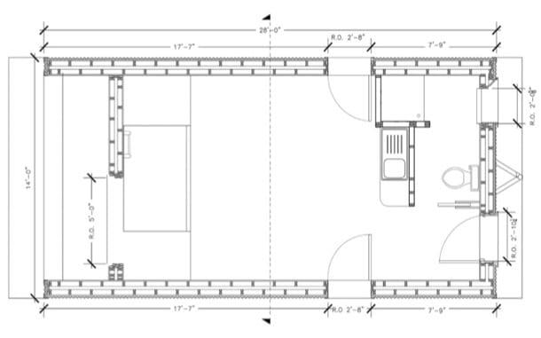 plano planta Sustainable Cabin