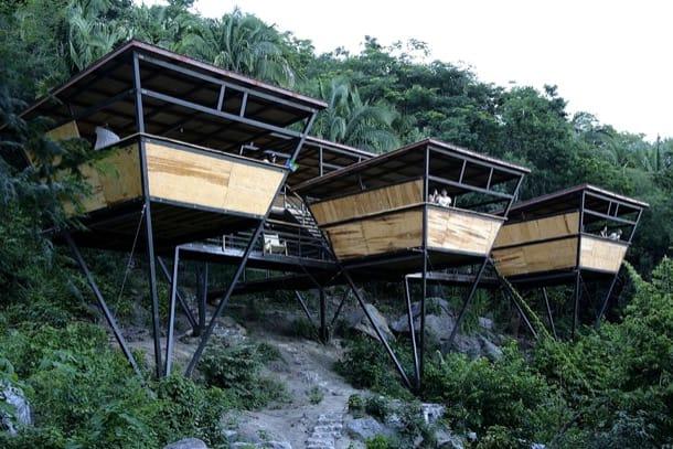 Refugios en la selva de m xico v houses alojamientos prefabricados - Refugios de madera prefabricados ...