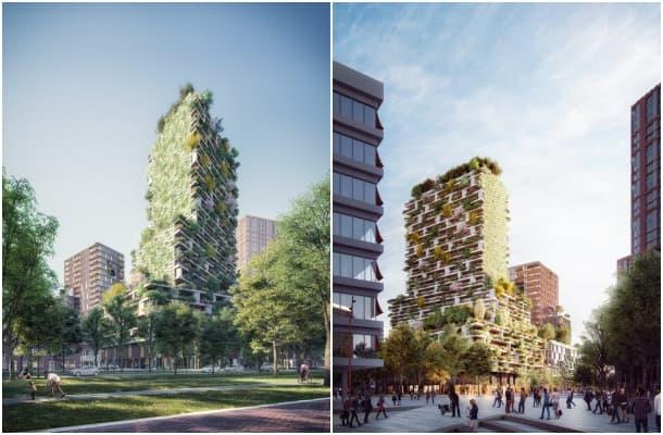 renders calle Hawthorn Tower de Utrecht