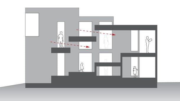 Casa con 2 plantas y sin escalera