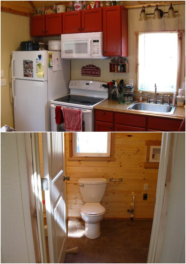 Pine Top cocina baño