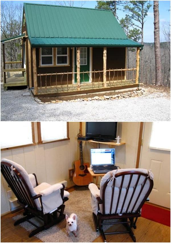 Pine Top vivienda mínima de madera