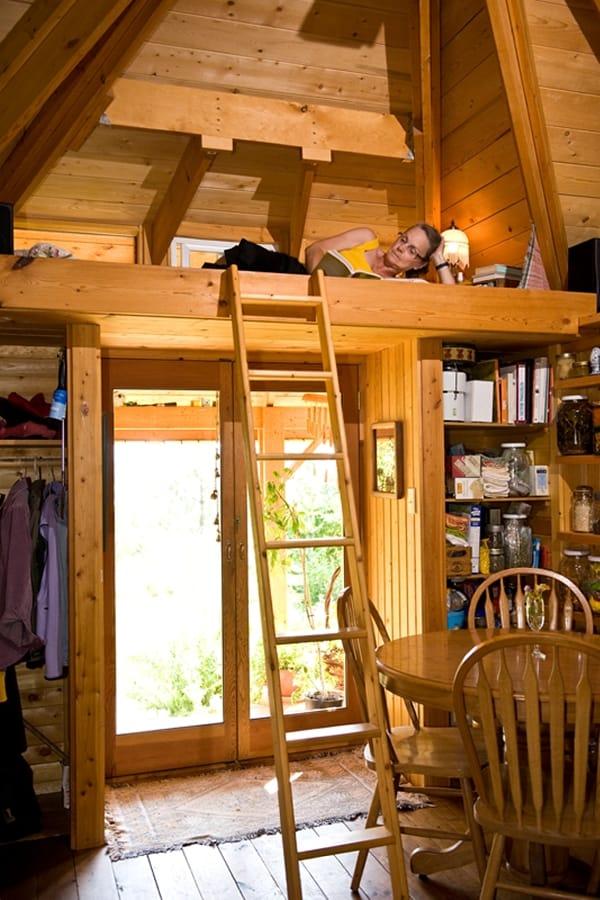 Quietude - pequeña casa de madera con altillo