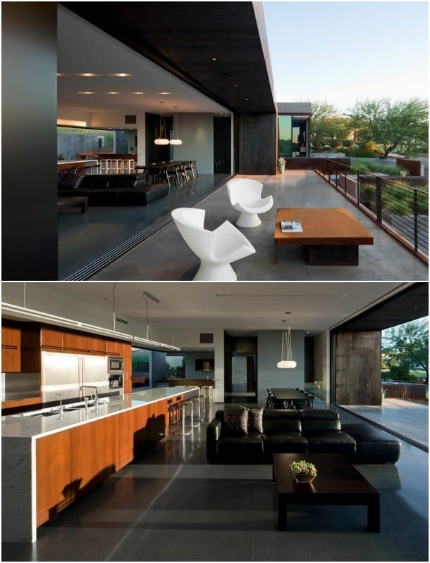 Residencia Yerger cocina y terraza