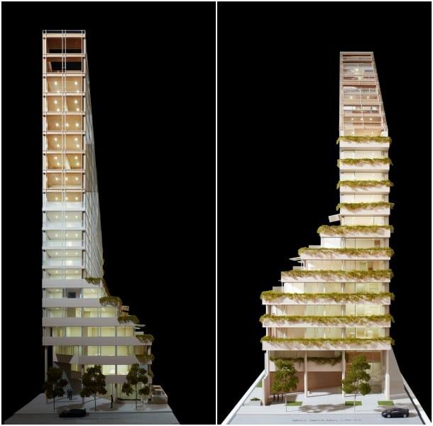 alzados maqueta Terrace House - Shigeru Ban