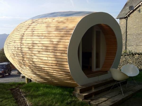 Un original hogar de madera