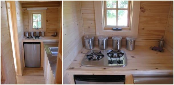 cocina casa de madera Fencl - Tumblewed