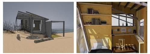 detalles refugio wave shelter