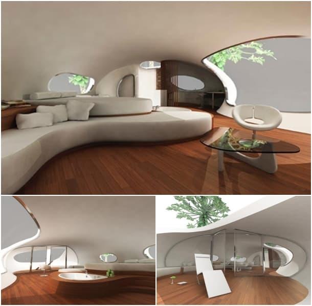 interior - refugio elevado Jungle House
