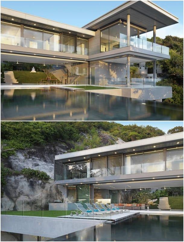 lujosa Villa Amanzi - exteriores piscina