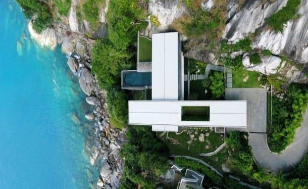Villa Amanzi: lujo en un acantilado