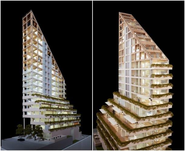 maqueta torre madera Terrace House