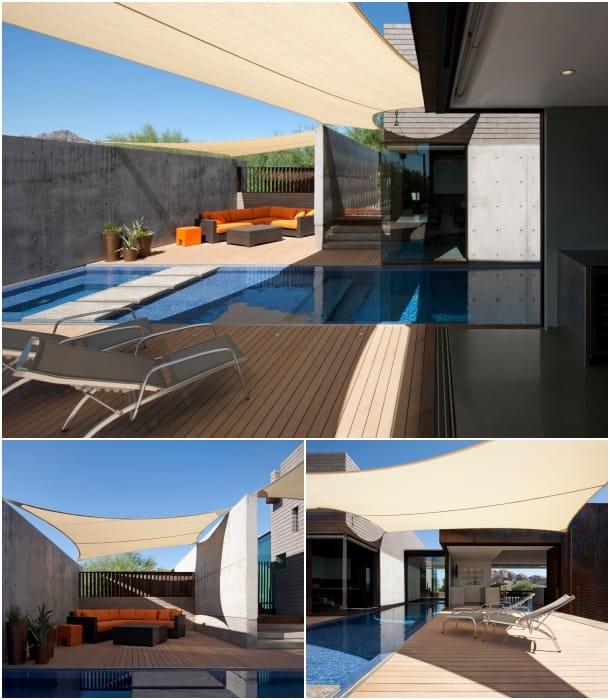 piscina y patio trasero Residencia Yerger