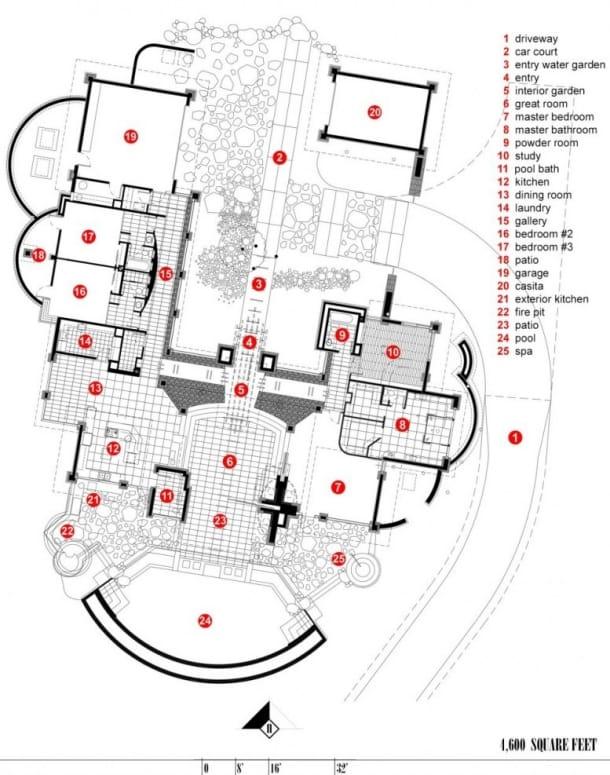 plano de planta Residencia Rusnak