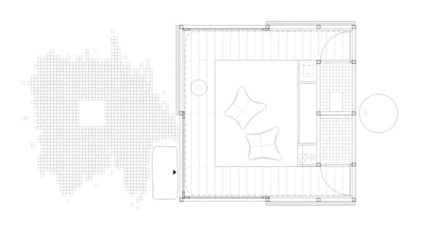 plano planta moderno retiro Pyramid Rock MGAO