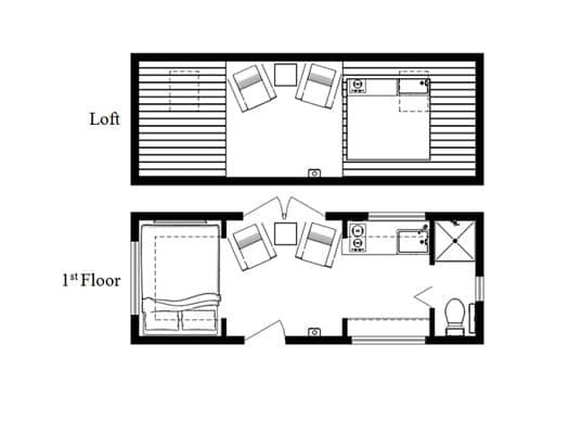 planos de la pequeña vivienda BRV1 Humble Homes