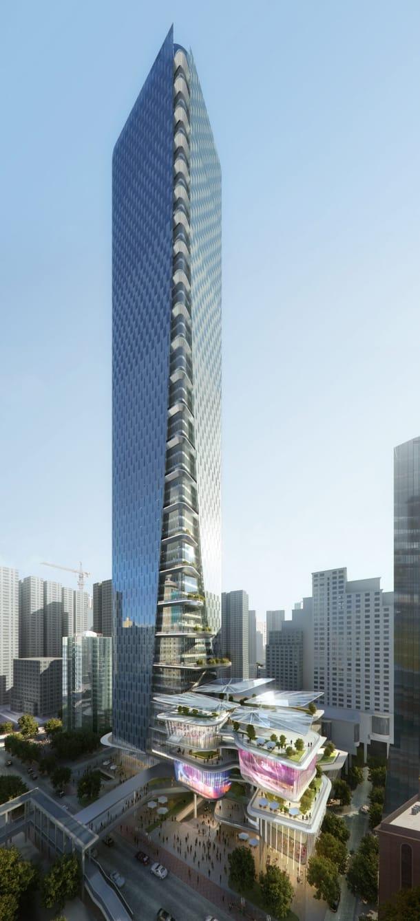 torre de oficinas en Luohu - Aedas