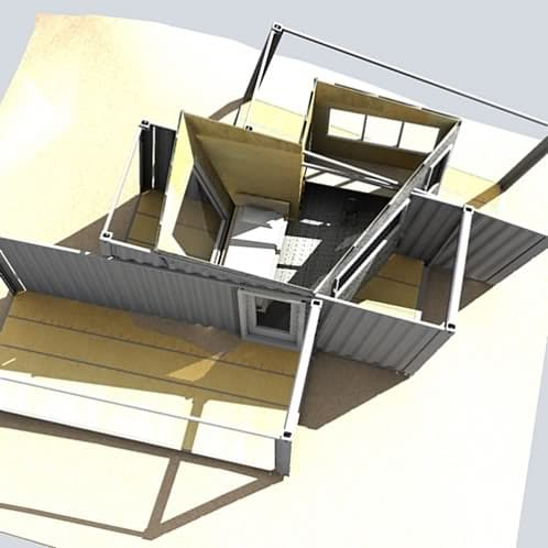 vista superior refugio wave shelter