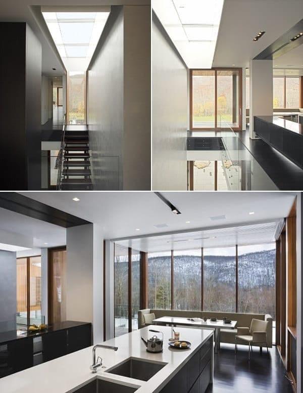Bridge House escaleras cocina