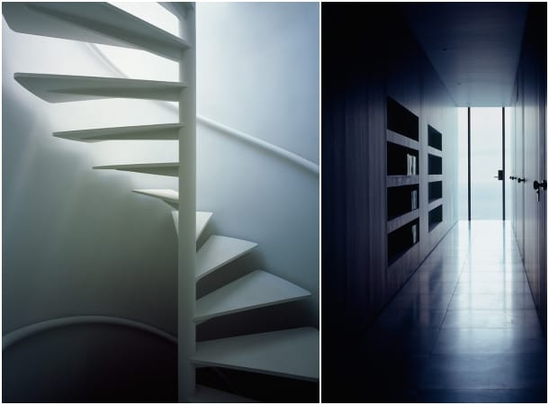 PLUS casa minimalista - escalera caracol y corredor