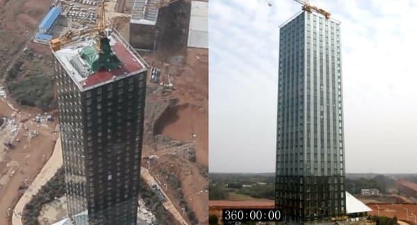 Hotel de 30 pisos construido en 15 días