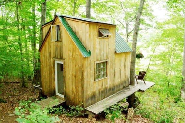 Casa-árbol autoconstruida por 4.000$