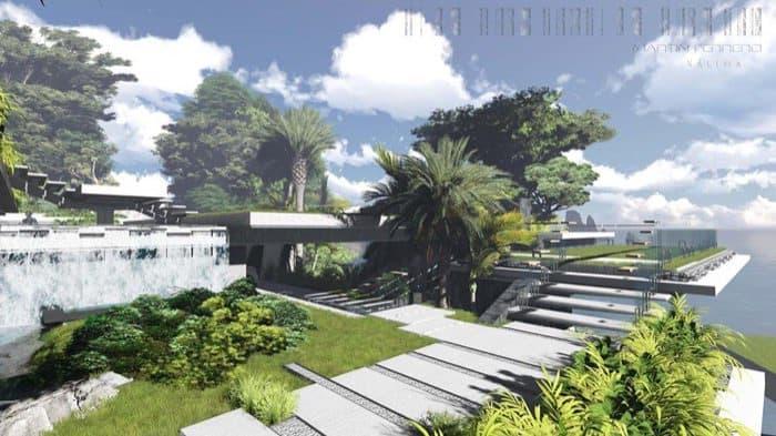casa Water Pavilion Martin Ferrero escalinatas exteriores