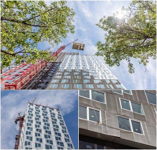 construcción prefabricada en altura