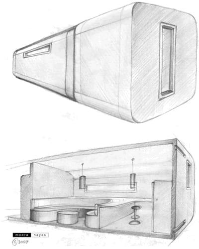 dibujos vivienda expandible ModPod