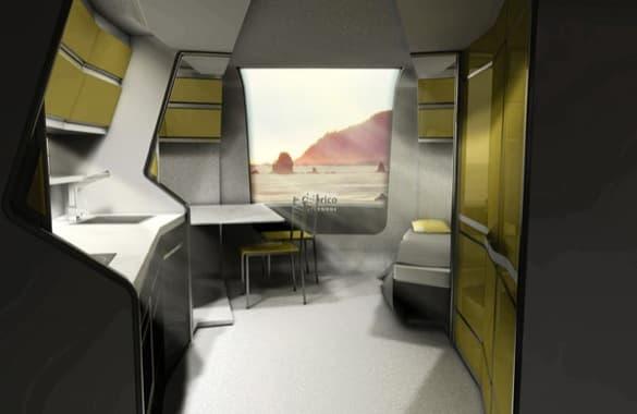 interior caravana expandible Odorico Pordenone
