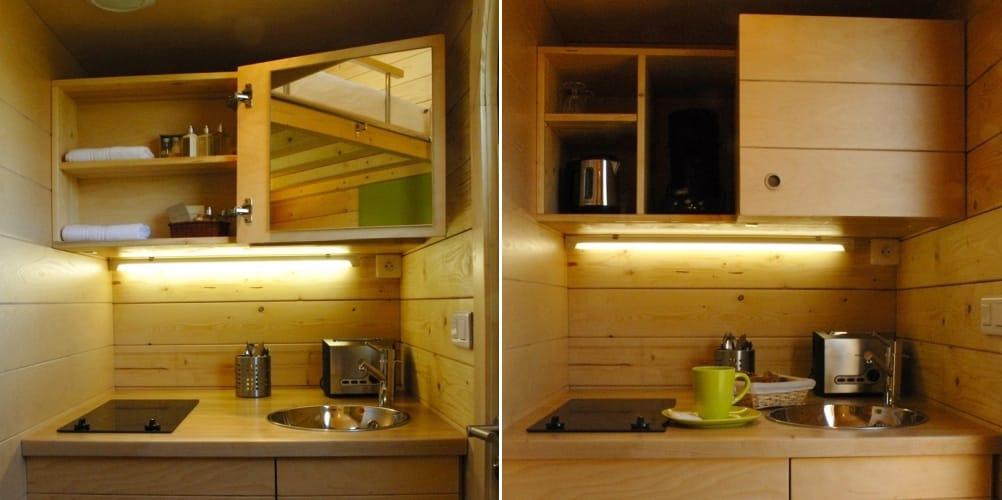 Carr d toiles refugio prefabricado en 3 metros c bicos for Muebles carre