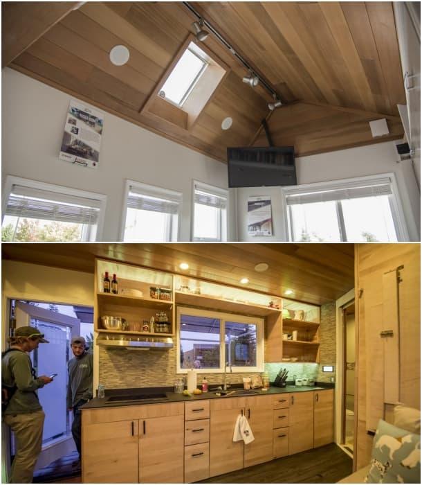 rEvolve House cocina techo sala
