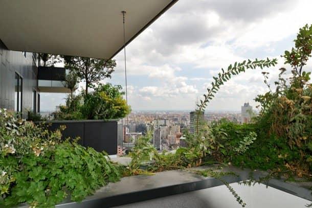 Bosco Verticale terrazas con arboles