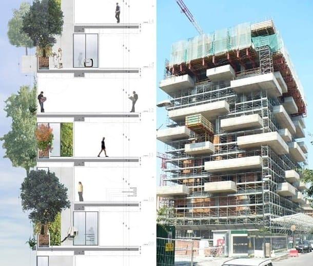 Bosco Verticale torres apartamentos arboles fachada