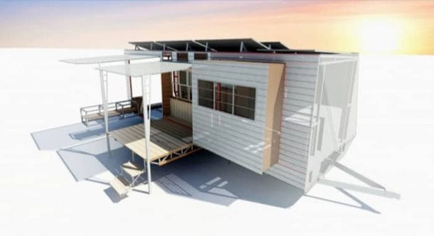 Casa extensible para emergencias