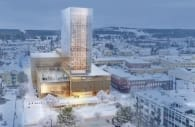 Centro Cultural Skellefteå vista aerea