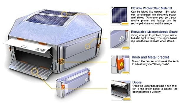 Refugio solar Honeycomb detalles