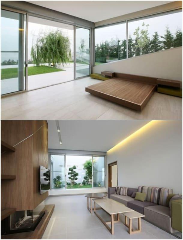 Villa Jiyeh casa en ladera sala_tv