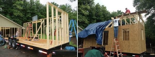 construccion casa sobre remolque