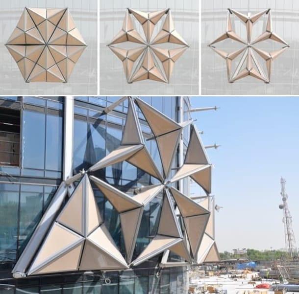 diferentes configuraciones celosias torres AlBahar