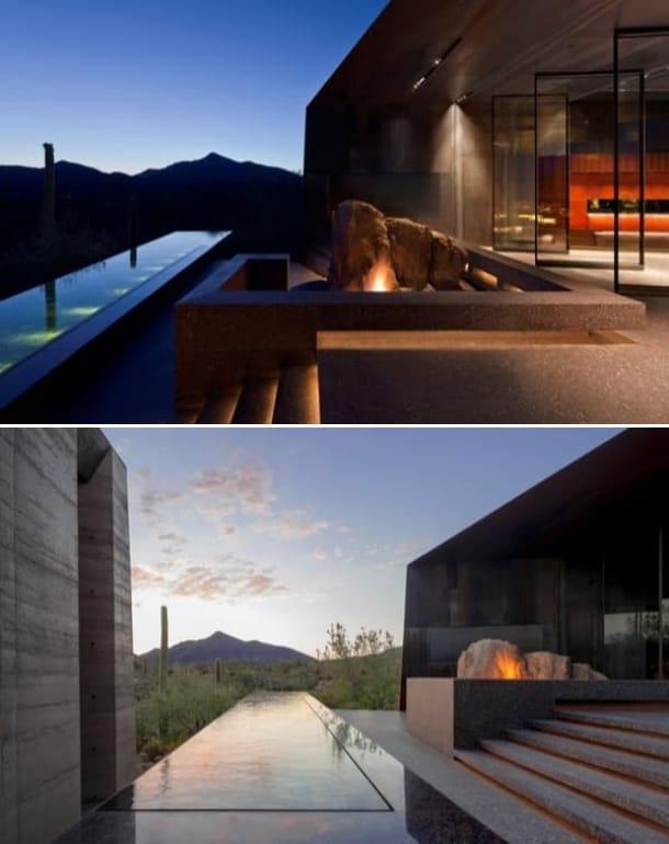 exterior Desert Courtyard House terrazas piscina