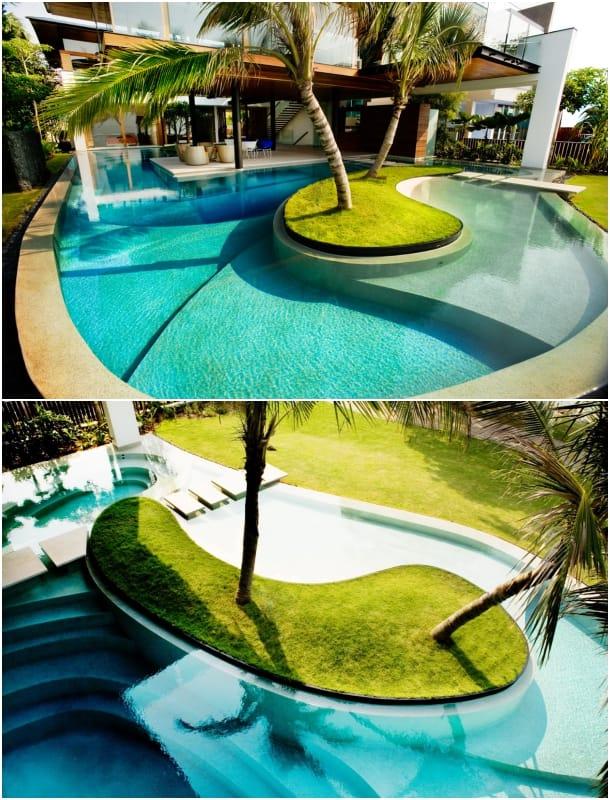 jardin piscina Fish House