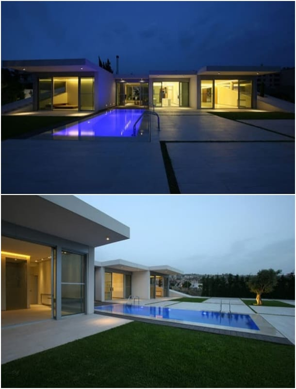 piscina Villa Jiyeh casa en ladera