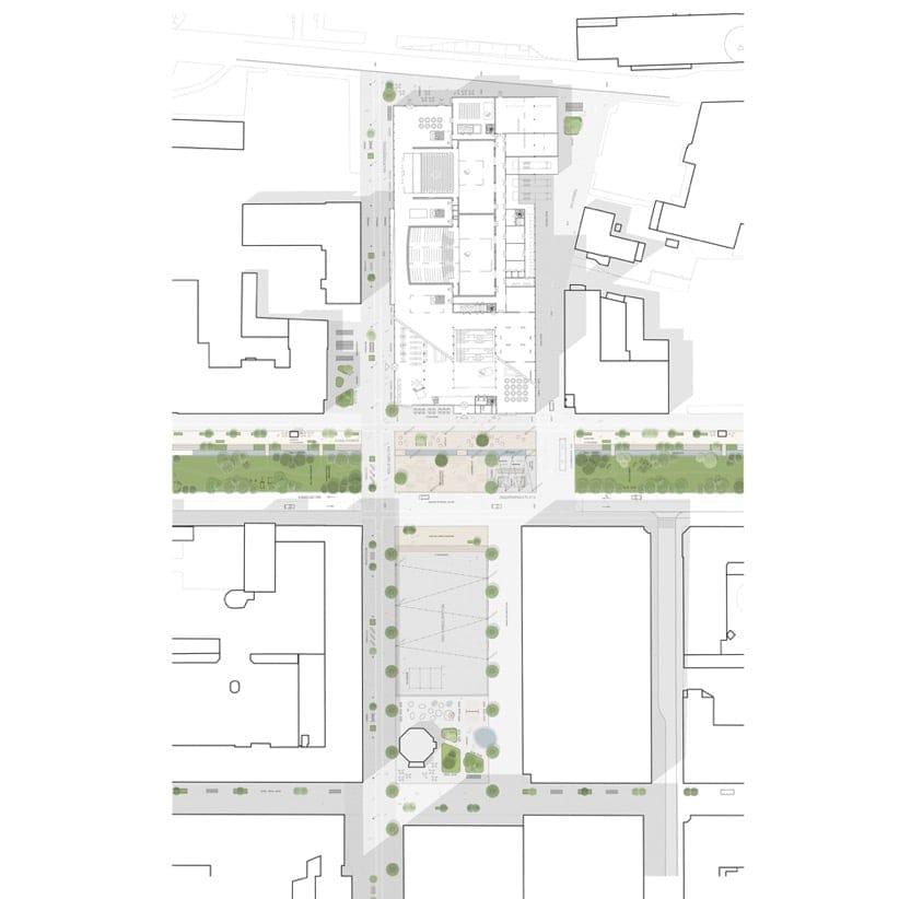 plano centro cultural Skellefteå Suecia