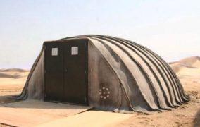 Pequeña estructura con manta de hormigón