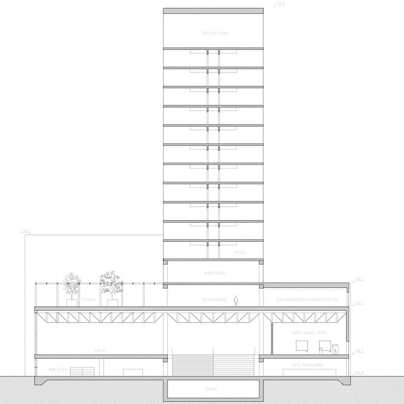 seccion torre centro cultural Skellefteå