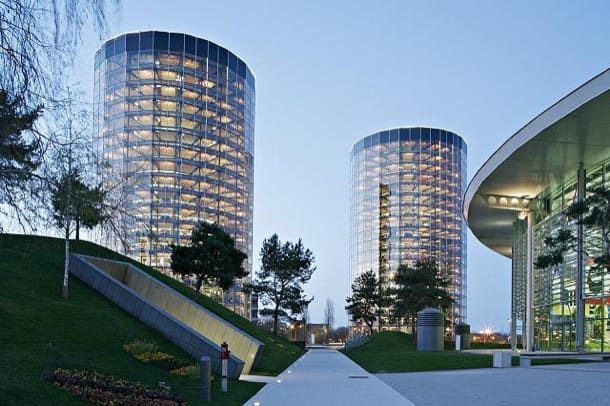 Las torres de coches del Autostadt