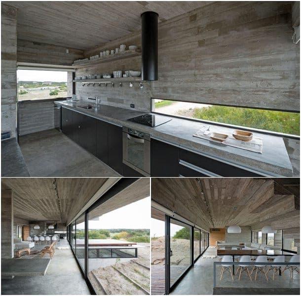 Golf House cocina de hormigon