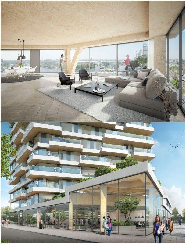 HAUT apartamentos madera Holanda