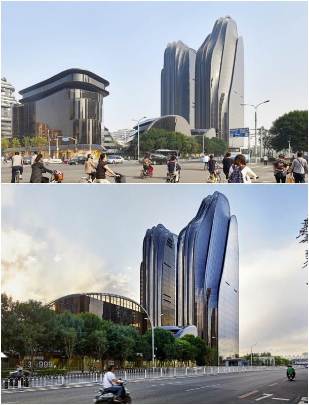 Torres Chaoyang desde avenida